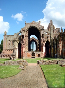 Melrose Abbey, Scottish Borders.